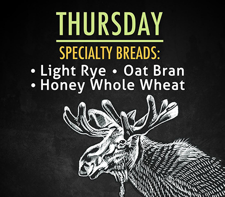 Thursday's Specialty Breads at the Skeena Bakery