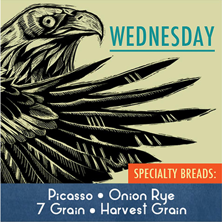 Wednesday's Specialty Breads at the Skeena Bakery